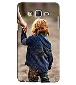 Blue Throat Little Boy Hard Plastic Printed Back Cover/Case For Samsung Galaxy On 5