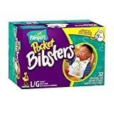 Pampers large Bibsters with Stay-Open Pocket and Leakproof Liner, Sesame Street characters, 32-Count