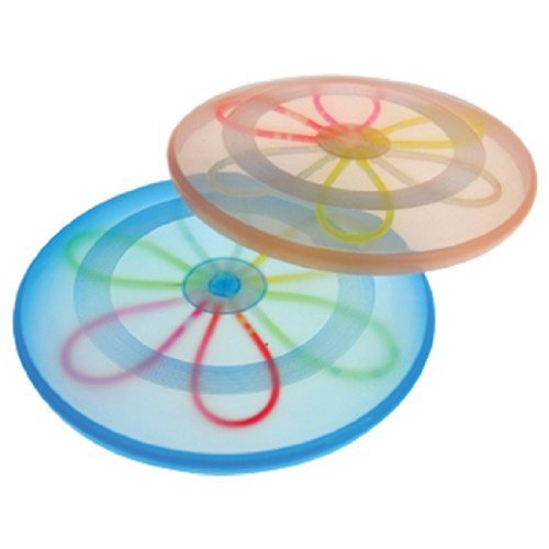 One Assorted Color Glow Light Up Large Plastic Flying Disc - 1