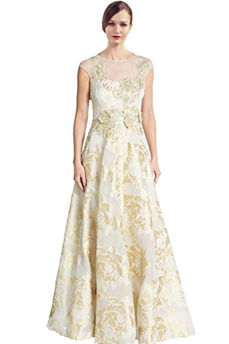 038512bebc334 Teri Jon Lace Cap Sleeve Applique Evening Gown Dress