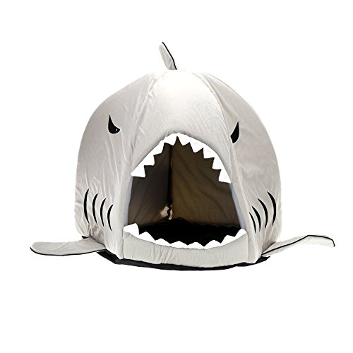 Durable and Safe Shark Shaped Pet Dog Bed Fleece Warm and Comfortable Puppy House Kennel Bed with Warm Cotton Cushion