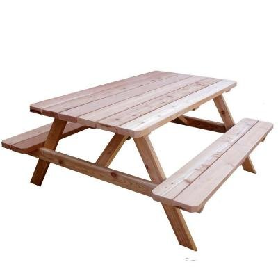 64-3/4 in. x 66 in. Patio Picnic Table (Wooden Rolling Cooler compare prices)