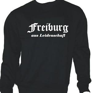 Freiburg aus Leidenschaft; Städte Sweatshirt schwarz