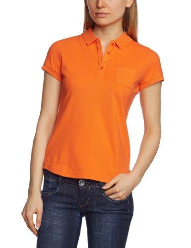 MUSTANG - Polo Con bottoni, Donna, Arancione (Orange (firecracker 736)), S