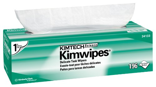 """Kimberly-Clark Kimtech Science 34133 Kimwipes Delicate Task Disposable Wiper, 11-51/64"""" Length X 11-51/64"""" Width, White (15 Boxes Of 196) front-1014229"""