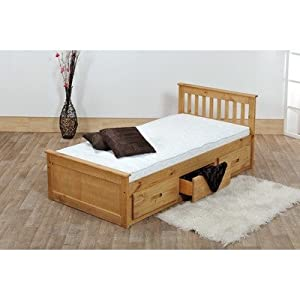 3'0 MISSION STORAGE BED IN WAXED PINE