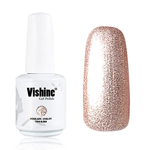 Vishine-Gelpolish-Gel-Nail-Polish-Lacquer-Shiny-Color-Soak-Off-UV-LED-Professional-Manicure-Gold1591