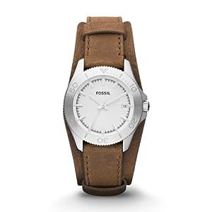 fossil am4460 montre femme quartz analogique aiguilles lumineuses bracelet cuir marron. Black Bedroom Furniture Sets. Home Design Ideas