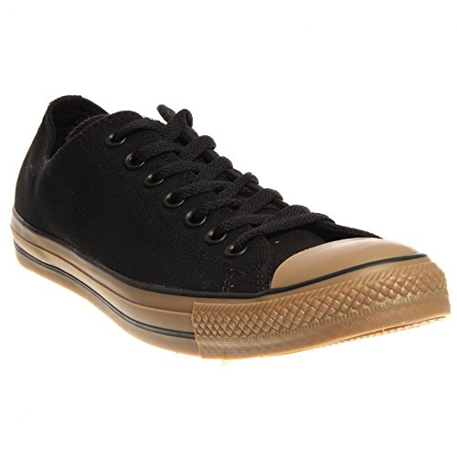 Converse Unisex All Star Chuck Taylor Ox Black/Gum Basketball Shoe 5 Men US / 7 Women US