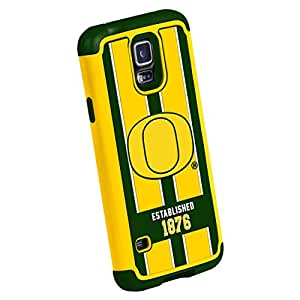 Forever Collectibles NCAA Oregon Ducks Dual Hybrid TPU Galaxy S5 Rugged Case
