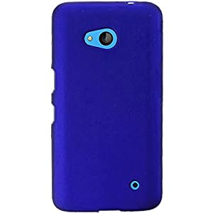 For Nokia Lumia 640 Rubberized Snap On Plastic Cover Case (Blue)