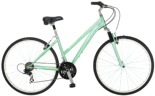 Schwinn Women's Network 1.0 700C Hybrid Bicycle, Mint, 16-Inch