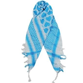 Sillly Yogi Heart arafat scarf-Turquoise-one size