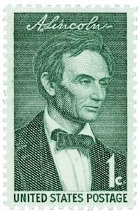 #1113 - 1959 1c Abraham Lincoln U.S. Postage Stamp Plate Block (4)
