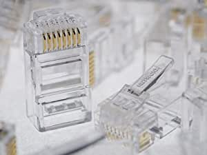 Networx Cat6 RJ45 Modular Connector with Load Bars - 100 Pack