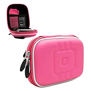 NYLON PINK Compact Digital Point & Shoot Thick Camera Case for Nikon Coolpix S02 S01 S6800 S5300 S5200 S3600 S3500 S30 S70 S100 S2600 S3000 S3100 S3200 S3300 S4000 S4100 S4200 S4300 S6200 S6300 S8200