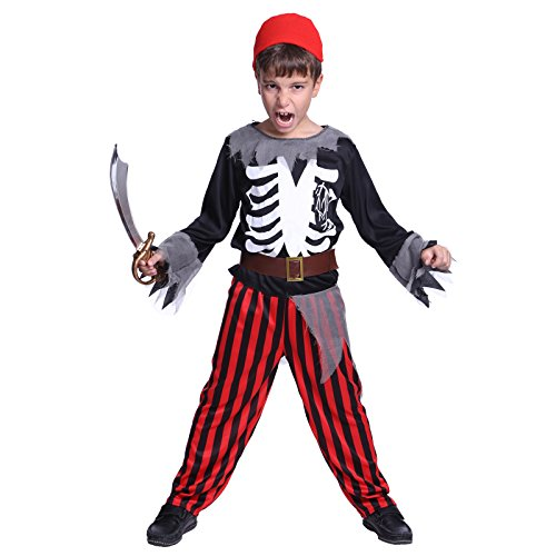 Kids Boys Zombie Pirate Skeleton Horror Vampire Halloween Costume Fancy Dress