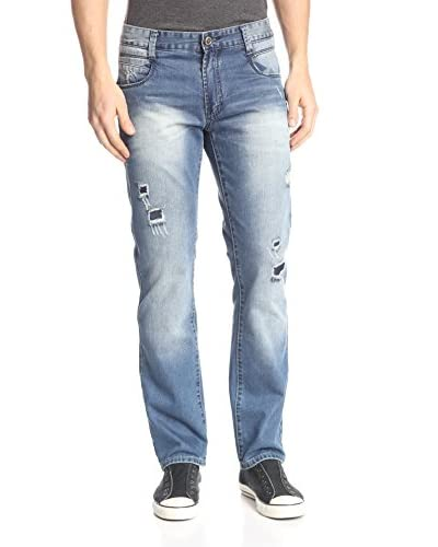 X-Ray Men's Five Pocket Jean with Rip/Repair