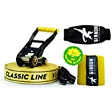 Classic X13 Slackline Tree Pro Set - 15m set with tree protection and ratchet coverby Gibbon