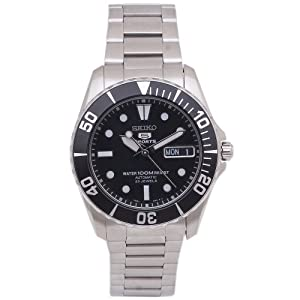 Seiko Men's SNZF29 Stainless Steel Analog with Black Dial Watch