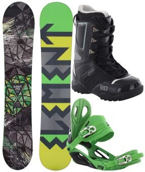 STUF ELEMENT 148 2017 inkl. STYLE green/black + ENIGMA Boot