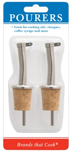 Westmark Pourers With Natural Cork Inserts, Set Of 2