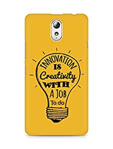 Amez Innovation is Creativity with a Job to do Back Cover For Lenovo Vibe P1M