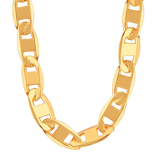 New Trendy Figaro Stud Chain Necklace For Men or Women Jewelry Gift 18K Gold Plated Wholesale N50104
