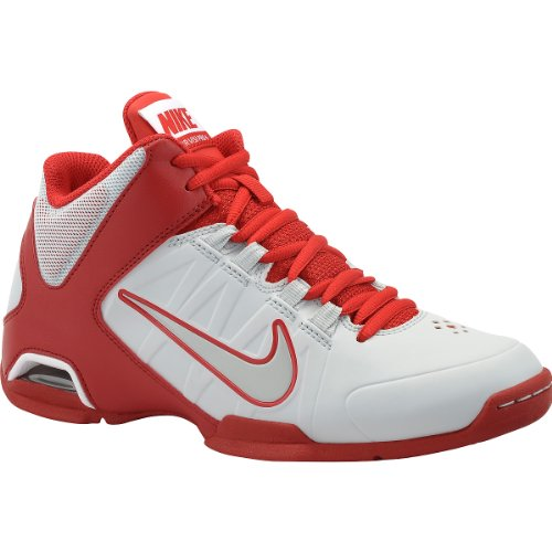 NIKE Women's Air Visi Pro IV Mid Basketball Shoes - Size: 8, White/red (Nike Air Visi Pro Iv compare prices)