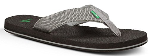 Sanuk Men's Yogi 4 Flip Flop, Charcoal Weave, 11 M US