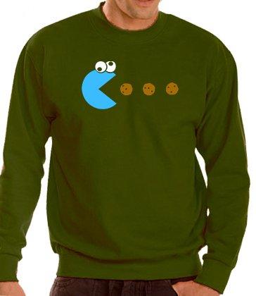 cookie-pacman-sweatshirt-s-xxxl-various-colours-german-import-men-khaki-xxl
