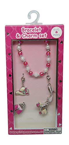 Pink Poppy Bracelet and Charm Set (Fashionista)