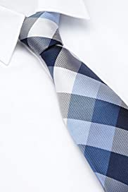 Performance Pure Silk Checked Tie with Stain Resistance [T12-7905-S]