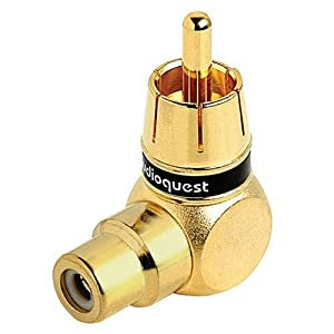 AudioQuest 90 Degree RCA male to RCA female adapter