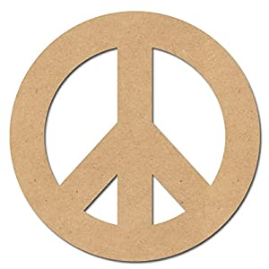 Pressed Wood Symbols Wall Decor Peace Sign