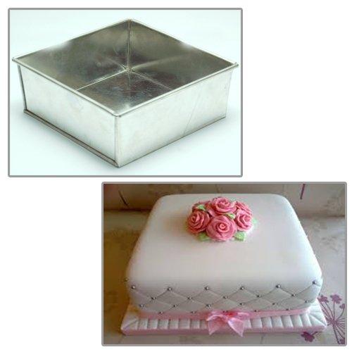 Forma di quadrato stampi per dolci - Teglia per torta - 10cm by EUROTINS