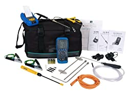 Kane 455 CPA1 kit flue gas analyser with printer, gas leak detector, BS7967 CO probes & cal cert by Kane International