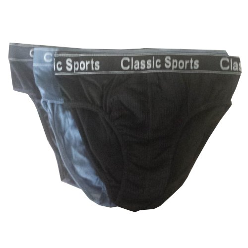 12 x Mens Underwear Briefs with Elastic Waistband