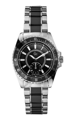 Guess Collection GC Sport Class Lady 29005L3 - Reloj analógico de mujer de cuarzo con correa de acero inoxidable negra
