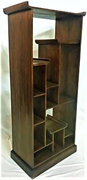 Libreria Legno Teak Massello Parete Attrezzata Stile Minimal Arredamento Etnico Bookcases Scaffalatura Espositore