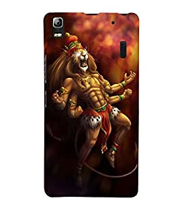 Vizagbeats Lord Narasimha Back Case Cover for Lenovo K3 Note