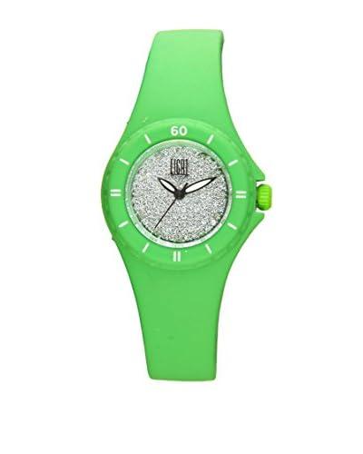 Light Time Reloj Silicon Small Strass Verde
