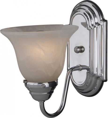 Maxim Lighting 8011MRPC Essentials 9.5'' H 1-Light Wall Sconce - Polished Chrome
