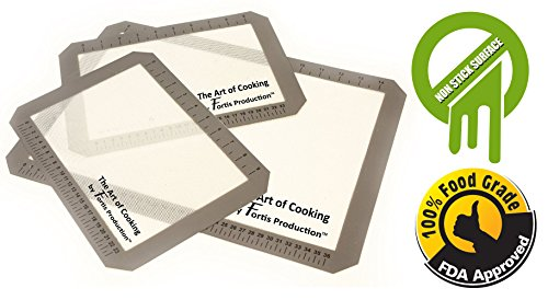 Silicone Baking Mat Set Eliminates The Need For Greasing Or Parchment Paper - Non-Stick - Eco-Friendly - 100% Food Grade Fda Approved - Smart Choice Liner For Healthy Cooking - Work With Any Size Of Sheet Pan - Heavy Duty And Easy To Clean