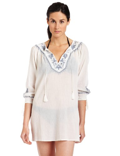 Joie Womens Gibson B Swim Cover-up, Porcelain With Chambray, Medium