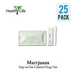 Marijuana Drug Test Cassette THC Urine Tests (25 Piece Box) by GlobalCareMarket