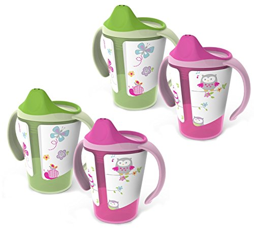 BPA-Free Grow with Me 6 oz. Training Cup, 4 Count, Girl - 1