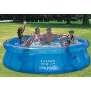 bestway pool 244 cm x 66 cm fast set pool abdeckplane. Black Bedroom Furniture Sets. Home Design Ideas
