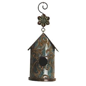 Wilco Imports Metal Blue Decorative Bird House