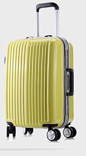 Puro PC alluminio valigia trolley cabina antigraffio caso bagagli spedizione 24 pollici maschili e femminili caster , bright yellow , 24 inch